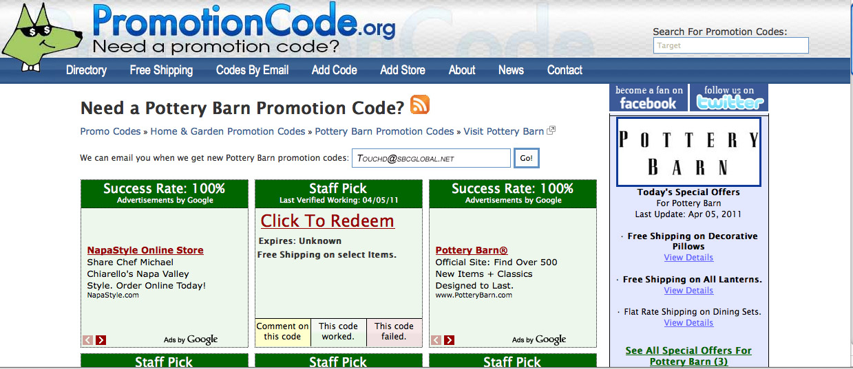 Find Coupon and Discount Codes on PromotionCode.org