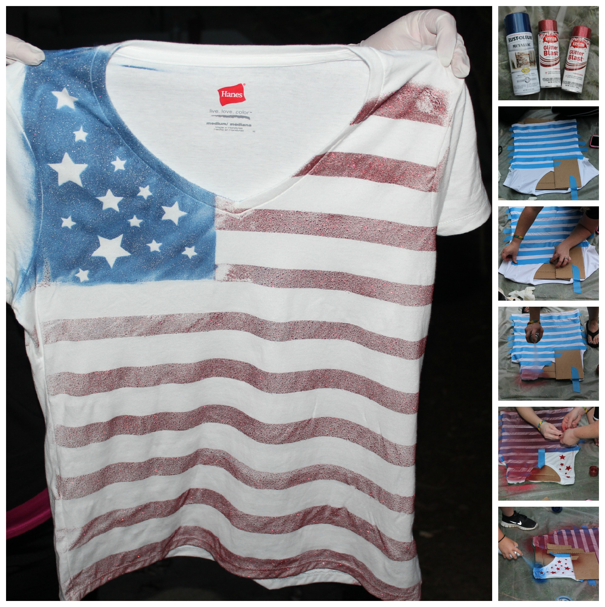 Festive DIY July 4th custom shirts!