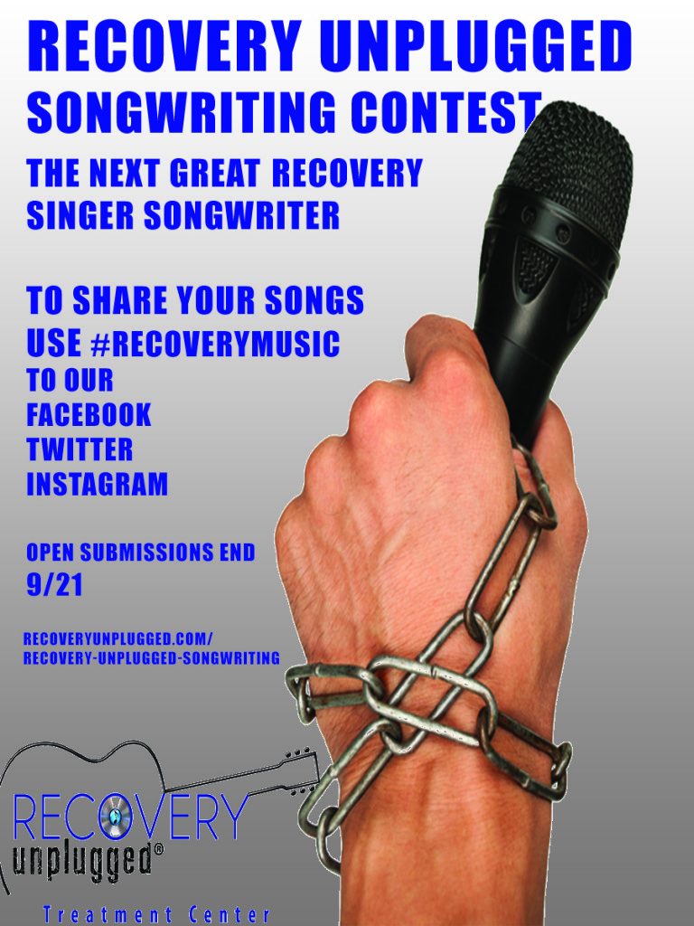 Song Writing Contest Open To All by Recovery Unplugged