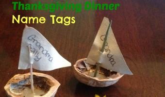 Homemade Name Tags For Thanksgiving Dinner