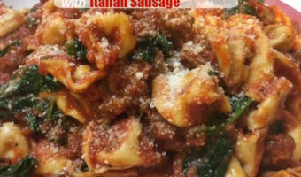Spinach Cheese Tortellini with Italian Sausage, Celebrate Italian-American Heritage Month with Johnsonville