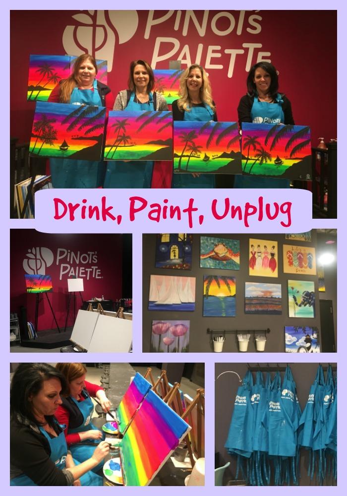 Pinots palette drink, paint, unplug