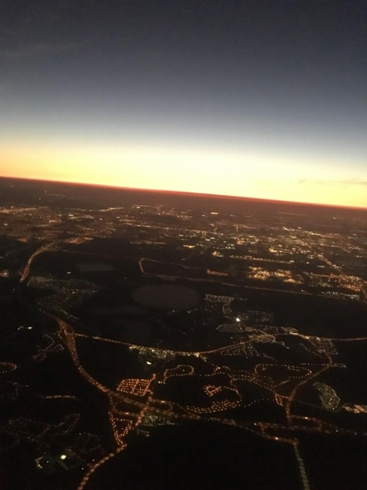Plane over LA