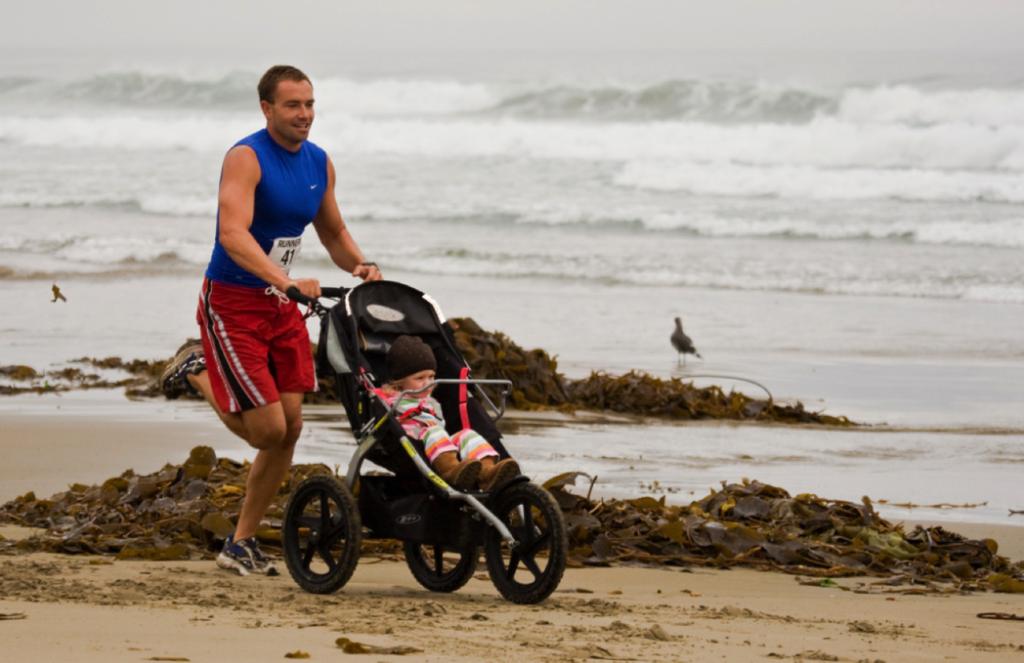 dad jogging