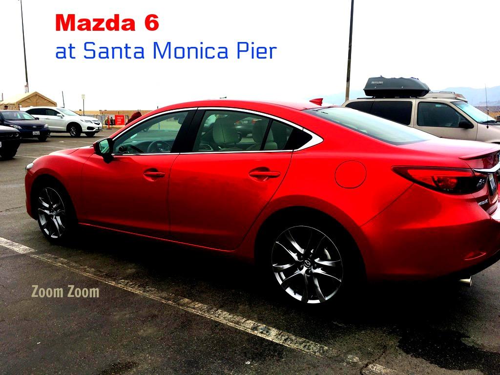 Mazda at Santa Monica Pier