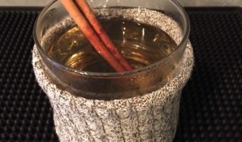Hot Toddy in a Sweater for a Holiday Cocktail