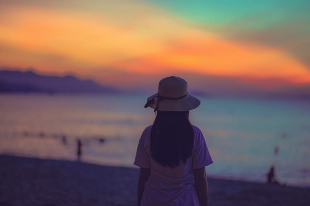 girl in sunset