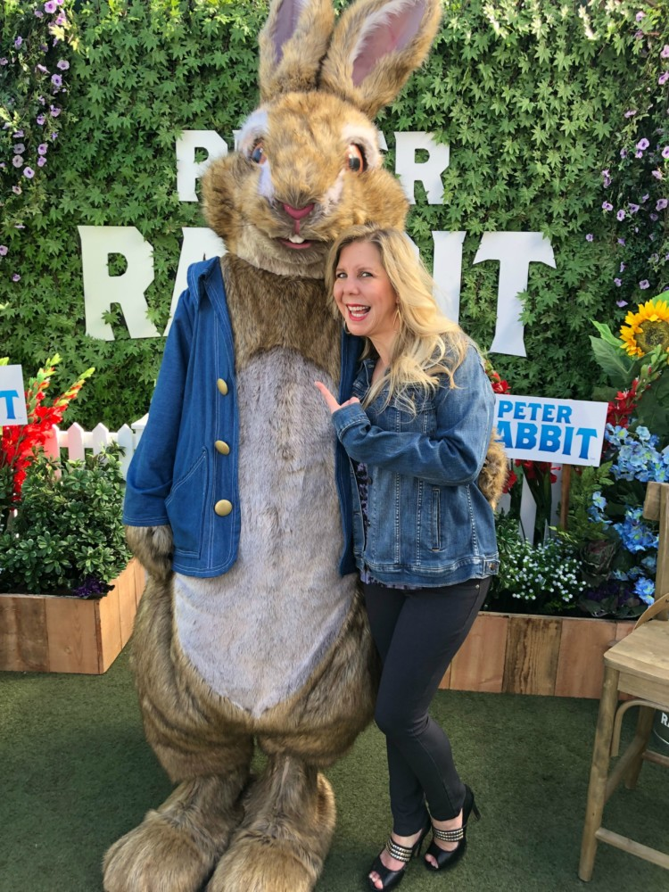 Peter Rabbit and Rachel Ferrucci