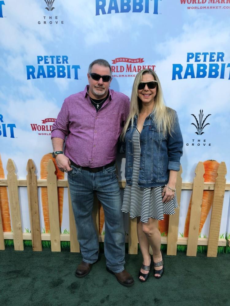 peter rabbit premiere blue jean jacket day
